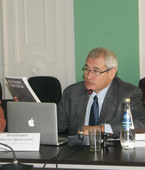 Ярошенко Виктор Афанасьевич, главный редактор журнала европейской культуры «Вестник Европы» (Москва)
